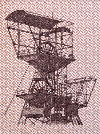 Image of a mining shaft tower in Katowice Zdjęcie Seryjne