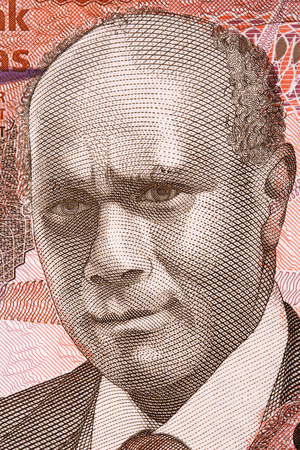 Cecil Wallace-Withfield portrait from Bahamian money Stock Photo