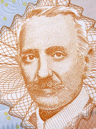 Aleksa Santic portrait from Bosnia and Herzegovina money Editorial