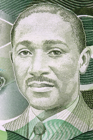 Frank Worrell portrait from Barbadian dollars Editorial