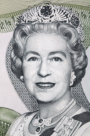 Elizabeth II portrait from Bahamian dollars