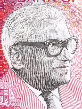 Seewoosagur Ramgoolam portrait from Mauritian money