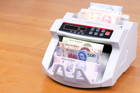 Mexican Peso in a counting machine