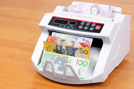 Australian Dolllar in a counting machine