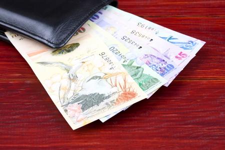 Bermudian Dollar in the black wallet