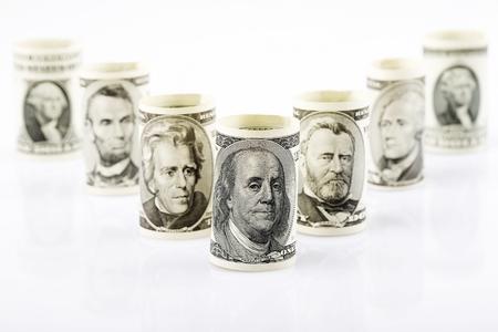 Amerykańscy prezydenci na banknotach Zdjęcie Seryjne