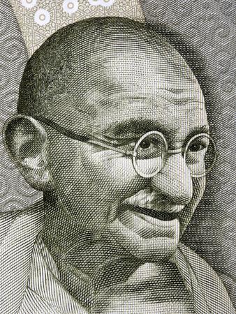 Mahatma Gandhi a portrait from Indian money Stock Photo