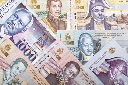 Full set of Haitian money, a business background Stock Photo