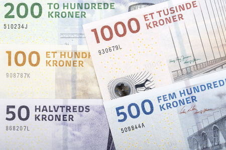 Danish kroner, a business background Banco de Imagens