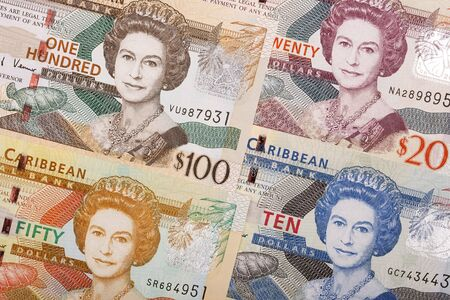 Eastern Caribbean dollar a business background Stock Photo
