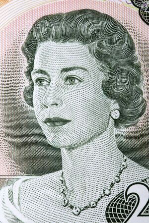 Elizabeth II portrait from old Canadian money