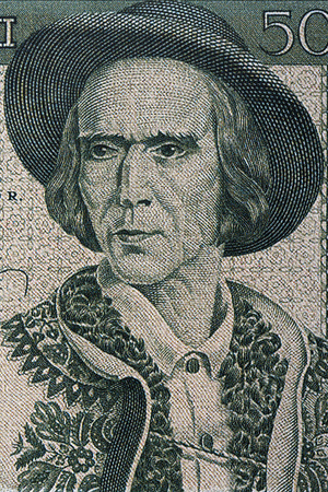 Highlander - Man from Zakopane area in national costume, a portrait from Polish money