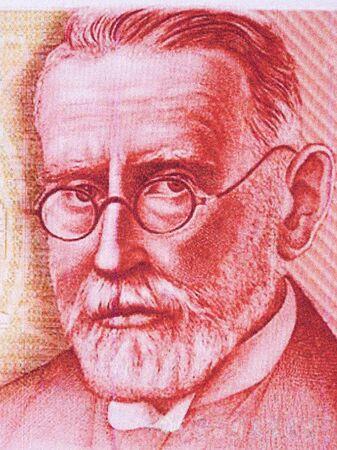 Paul Ehrlich a portrait from Deutsche Marks 新聞圖片
