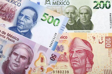 Peso messicano un background aziendale Archivio Fotografico