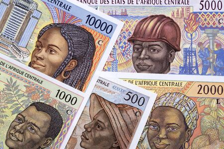 Old Central African money a business background Banque d'images