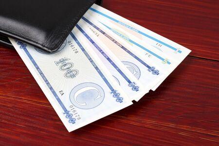 Money from Cuba in the black wallet