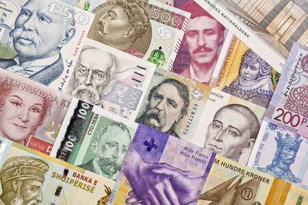 European money a business background Stock fotó - 134803654