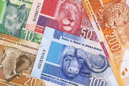 South African money a business background Banco de Imagens