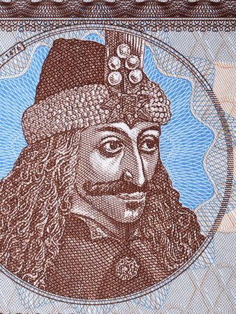 Vlad Tepes a portrait from collector's banknote