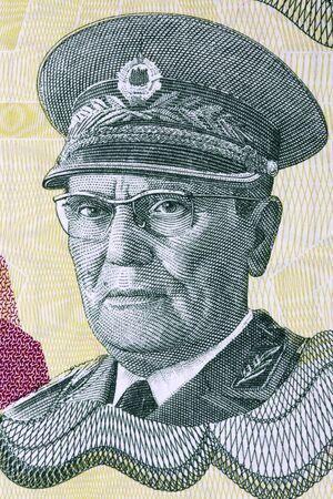 Josip Broz Tito ein Porträt aus jugoslawischem Geld