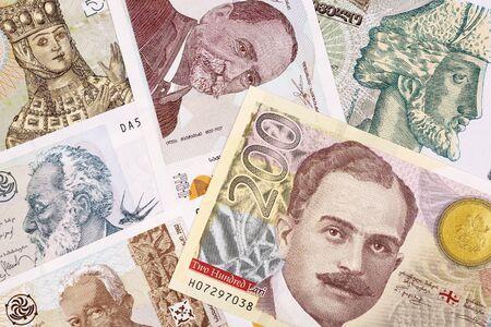 Georgian money - lari a business background