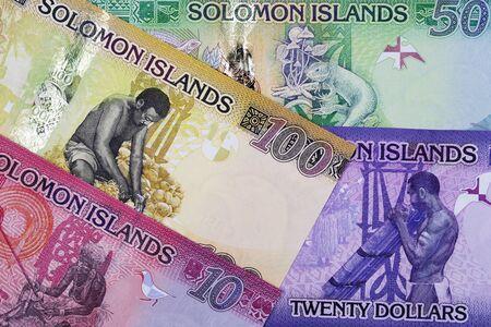 Solomon Islands money - dollar a business background Stock Photo