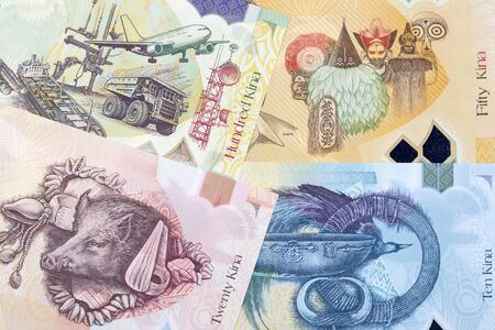 Papua New Guinean money - kina a business background