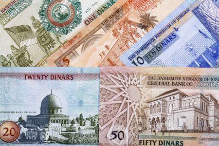 Jordanian money - dinar a business background