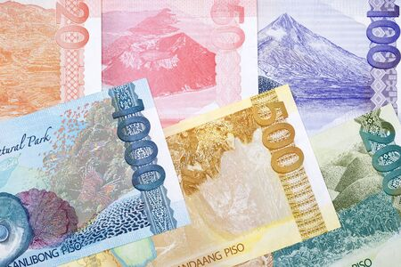 Philippine money - peso a business background
