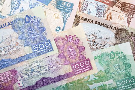 Currency of Somalia a business background Stockfoto