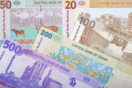 Sudanese money - pound a business background