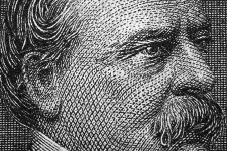 Grover Cleveland a close-up portrait from old Dollars