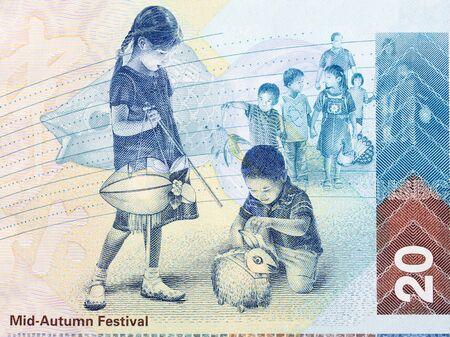 Mid-Autumn Festival from Hong Kong money