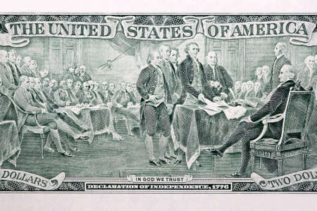 United States Declaration of Independence from American money