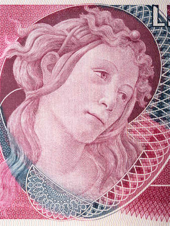 Head of one of the Graces from Italian money