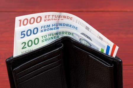 Danish krone in the black wallet Reklamní fotografie