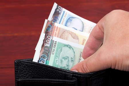 Bulgarian money - lev in the black wallet