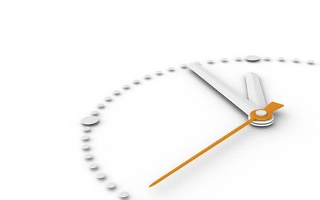 gestion del tiempo: Cinco a doce. Reloj en cinco a doce Foto de archivo