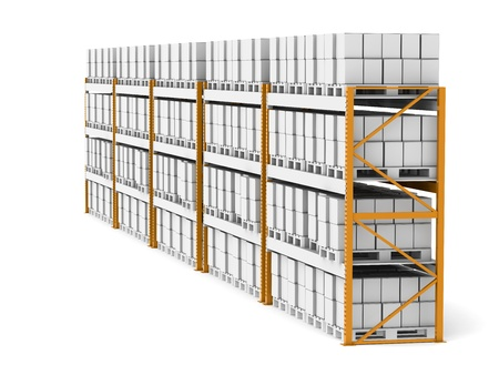 Shelv rack X 5. 5 Shelve Racks with pallets photo