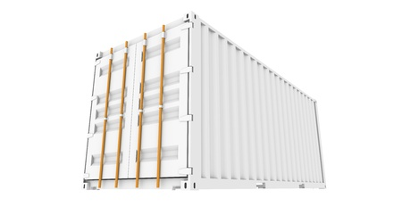 Cargo Container, Perspective view of Cargo Container Stock Photo - 9152448