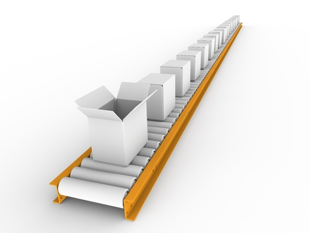 Conveyor with boxes Stock Photo - 9152468