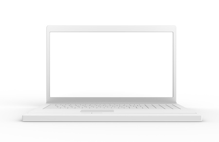 Laptop isolated,back lit. White screen with high luminosity. Stock Photo - 9152487