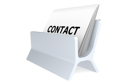 Contact, Business Card Holder Stock Photo - 9222799