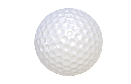 Golf ball isolated on white   Stock Photo - 9222765