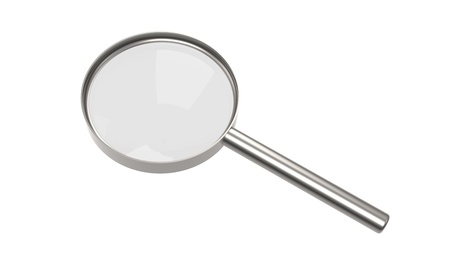 Magnifying glass on white background, Isolated Stock Photo - 9222725