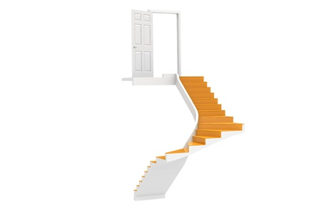 Stairs up to Copy-Space  Stock Photo - 9222715