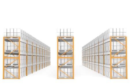 Rack x 30. Part of Warehouse series  photo