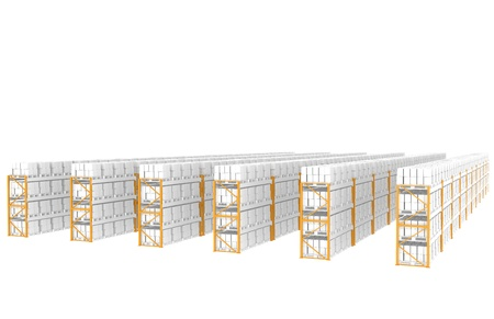 storage box: Rack x 60. Side view. Part of Warehouse series