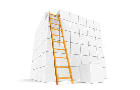 Large Cube with ladder and the Last piece photo