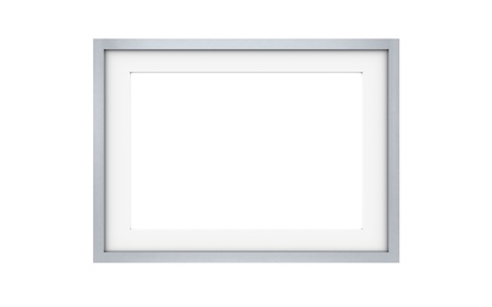 metal frame: Steel picture frame isolated on white Stock Photo